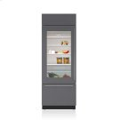 """30"""" Classic Over-and-Under Refrigerator/Freezer with Glass Door - Panel Ready Product Image"""