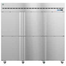 F3A-HS, Freezer, Three Section Upright, Half Stainless Doors with Lock