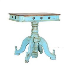 Turquoise/Walnut Francis Recepcion End Table