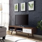 "Transmit 55"" TV Stand in Walnut White Product Image"