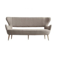 Divani Casa Altus Modern Light Grey Fabric Sofa