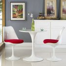 "Lippa 28"" Round Wood Top Dining Table in White Product Image"
