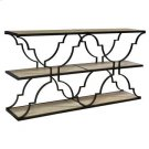 Bengal Manor Iron and Wood Architectural 3 Tier Console Product Image