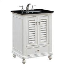 25 in. Single Bathroom Vanity set in Antique White