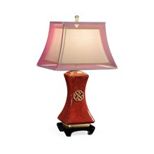 Urban Zen table lamp in Scarlet Snakeskin
