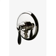 Easton Classic Pressure Balance with Diverter Trim with Black Porcelain Lever Handle STYLE: EAPB94