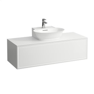 Traffic Grey Drawer element 1200, 1 drawer, with centre cut-out, matches small washbasin 816852 Product Image