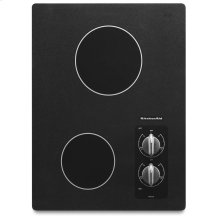 "15"" Electric Cooktop with 2 Radiant Elements - Black"