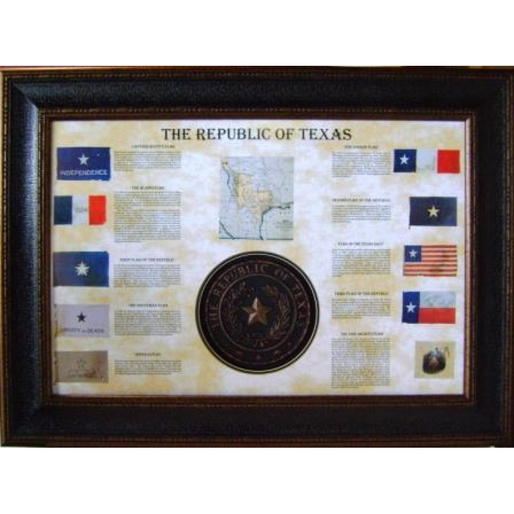 Shadow Box W/Seal & Flags