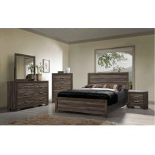 Asheville Queen Bedroom Set: Queen Bed, Nightstand, Dresser & Mirror