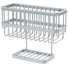 Symmons Extended Selection Dual Shelf Soap Basket - Polished Chrome