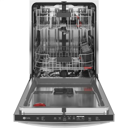 GE Profile™ Smart Stainless Steel Interior Dishwasher with Hidden Controls