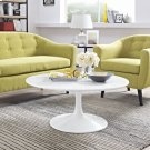 """Lippa 36"""" Round Wood Coffee Table in White Product Image"""