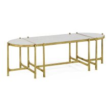 glomise & Gilded Iron Bunching Tables