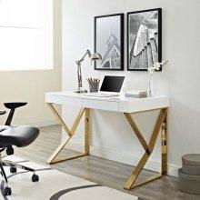 Adjacent Desk in White Gold