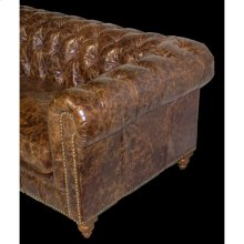 Tufted Leather Sofa- Chesterfield