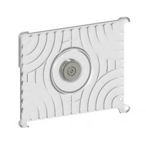 Silver iPad® Mount For on-wall or magnetic surface mounting