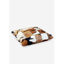 Safari Square Pillow in Patchwork Design..