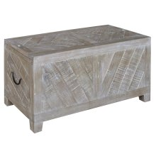 Bengal Manor Light Mango Wood Sliding Top Cocktail Table w/ Wine Storage