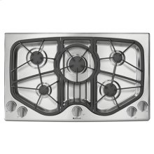 "Gas Cooktop, 36"", Stainless Steel"