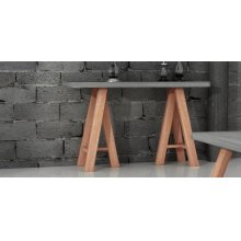 Modrest Civic Modern Concrete & Acacia Console Table