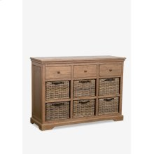 Simone Sideboard (3 Drawers+6 baskets)-Grey (47X15X33.5)