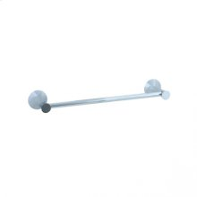 """Brookhaven - Towel Bar With Crown Posts 18"""" - Polished Chrome"""