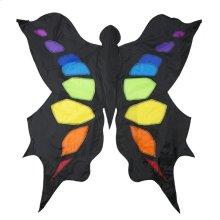 Black & Rainbow 3D Butterfly Kite