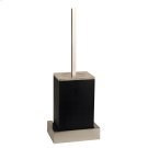 Black wall mounted brush holder Product Image