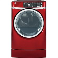 GE® 8.3 cu. ft. capacity RightHeight Design Front Load electric dryer with steam (This is a Stock Photo, actual unit (s) appearance may contain cosmetic blemishes. Please call store if you would like actual pictures). This unit carries our 6 month warranty, MANUFACTURER WARRANTY and REBATE NOT VALID with this item. ISI 32983