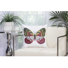 "Outdoor Pillow L2792 White 18"" X 18"" Throw Pillow"