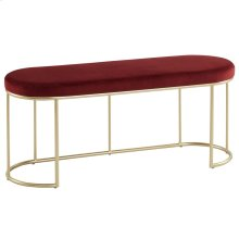 Perla Bench in Burgundy & Gold