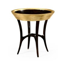 Stepped Gilded Circular Side Table