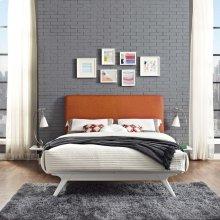 Tracy 3 Piece Full Bedroom Set in White Orange