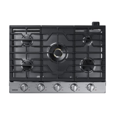"30"" Gas Cooktop with 22K BTU Dual Power Burner in Stainless Steel Product Image"