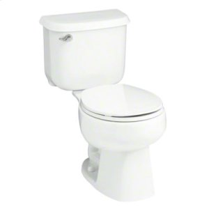 """Windham™ 14"""" Rough-in Round-Front Toilet with Pro Force® Technology - White Product Image"""