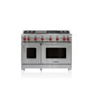 """48"""" Gas Range - 4 Burners, Infrared Charbroiler and Infrared Griddle Product Image"""