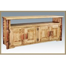 Glacier Country Log Television Stand