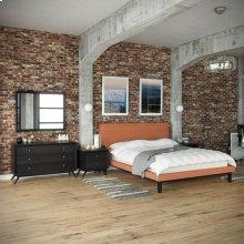 Bethany 5 Piece Queen Bedroom Set in Black Orange