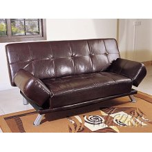 Chocolate Finish Adjustable Sofa