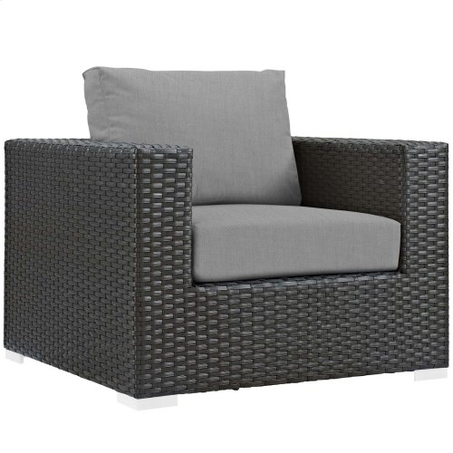 Sojourn 8 Piece Outdoor Patio Sunbrella® Sectional Set in Canvas Gray