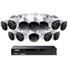 16-Channel 4K Ultra HD Security System with 12 Active Deterrence 4K Cameras