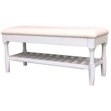 Easton Queen Bench -wht
