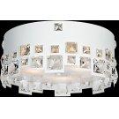Flush Mount, White/crystal Deco., Type Jcd/g9 40wx3 Product Image