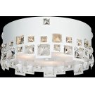 Flush Mount, White/crystal Deco., Type Jcd/g9 40wx3 Product Image
