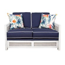 Loveseat, Sofa Arms available in Distressed White or Distressed Grey Finish.