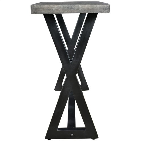 Zax Console Table in Distressed Grey