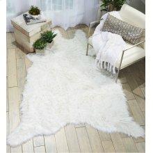 Fur Fl100 White 5' X 7' Throw Blanket
