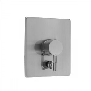 Antique Brass - Rectangle Plate With Round Contempo Lever Trim For Pressure Balance Cycling Valve With Built-in Diverter (J-DIV-CSV) Product Image