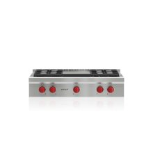 """36"""" Sealed Burner Rangetop - 4 Burners and Infrared Griddle"""